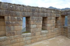 Binnenmachu Picchu Stock Foto