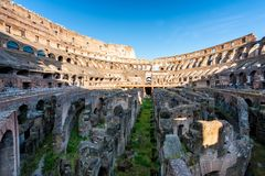 Binnenmening van Colosseum in Rome, Italië stock afbeelding