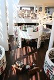 Binnenmening van de Centrale Bibliotheek van Amsterdam stock fotografie