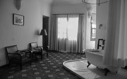 Binnenmening van de oude bouw bij Anna Mandara-hotel in Dalat, Vietnam royalty-vrije stock foto