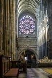 Binnenmening van de StVitus-Kathedraal in Praag Stock Afbeeldingen