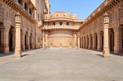 Binnenmening van het Paleis van Umaid Bhawan van Rajasthan Royalty-vrije Stock Afbeeldingen