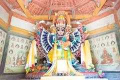 BINNENmongolië, CHINA - 14 Augustus 2015: Buddastandbeelden in Meidai Lam Royalty-vrije Stock Foto