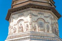 BINNENmongolië, CHINA - 08 Augustus 2015: Daming Pagoda (Damingta) bij Royalty-vrije Stock Afbeeldingen