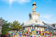 BINNENmongolië, CHINA - 13 Augustus 2015: Pagode in Xilitu Zhao Templ Stock Foto