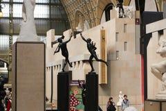 Binnenorsay-museum Parijs Frankrijk stock afbeeldingen