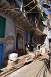Binnenplaats in de oude stad van Delhi, India royalty-vrije stock foto