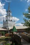 Binnenplaats in Izmaylovsky het Kremlin in Moskou Traditionele Rus stock afbeelding