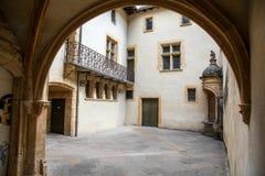Binnenplaats in Lyon Royalty-vrije Stock Afbeeldingen