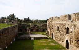Binnenplaats op historisch Kasteel Othello stock foto's