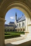 Binnenplaats van Abbaye DE Fontevraud royalty-vrije stock afbeelding