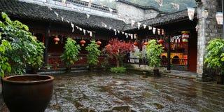 Binnenplaats van Boeddhistische tempel stock afbeeldingen