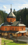 Binnenplaats van christelijk orthodox klooster royalty-vrije stock fotografie