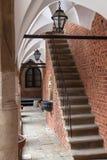 Binnenplaats van Universiteit Jagiellonian in Krakau. Polen. Stock Afbeeldingen