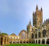 Binnenplaats van de Kathedraal van Canterbury Stock Fotografie