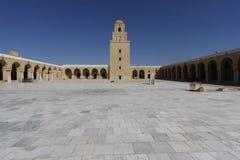 Binnenplaats van de Moskee van Kairouan Royalty-vrije Stock Foto's