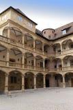 Binnenplaats van de Oude Kasteel 10de eeuw in Stuttgart Stock Foto