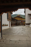 Binnenplaats van een Dzong Royalty-vrije Stock Foto