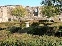 Binnenplaats van een huis in Pompei Stock Foto