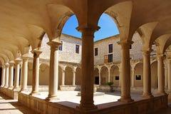 Binnenplaats van een Tempel. Zadar, Kroatië Stock Foto