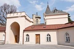 Binnenplaats van Franzensburg-Kasteel, Laxenburg, Lager Oostenrijk, Oostenrijk Stock Afbeeldingen