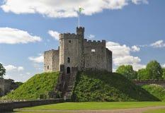 Binnenplaats van het kasteel van Cardiff stock foto