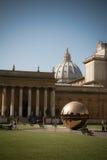 Binnenplaats van het Museum van Vatikaan Stock Foto's