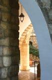 Binnenplaats van het slot. Royalty-vrije Stock Foto's