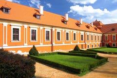 Binnenplaats van kasteel Royalty-vrije Stock Foto's