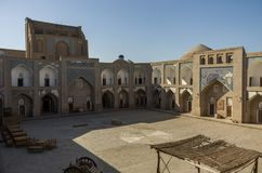 Binnenplaats van Mohammed Rakhim Khan Medressa, Khiva, royalty-vrije stock fotografie