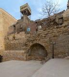 Binnenplaats van Tekkeyet al-Bustami, Kaïro, Egypte royalty-vrije stock foto's