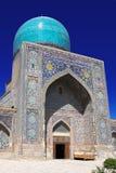 Binnenplaats van tillya-Kori Madrasah, Samarkand, Oezbekistan Stock Afbeelding