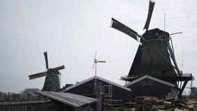 Binnenplaats van windmil stock footage