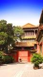 Binnenplaats in Verboden Stad, Peking, China Stock Foto