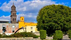 Binnenplaatstuin in Puebla Mexico Royalty-vrije Stock Fotografie