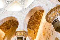 Binnensheikh zayed grand mosque Royalty-vrije Stock Foto's