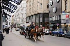 Binnenstad Wenen, Oostenrijk Royalty-vrije Stock Afbeelding