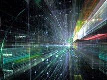 Binnentunnel - abstract digitaal geproduceerd beeld Stock Foto's