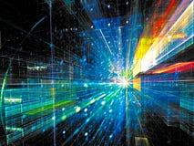Binnentunnel - abstract digitaal geproduceerd beeld Stock Afbeeldingen