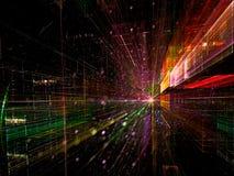 Binnentunnel - abstract digitaal geproduceerd beeld Royalty-vrije Stock Foto
