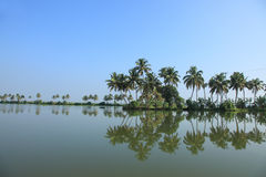 Binnenwateren van Kerala Stock Foto's
