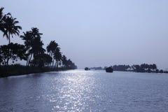 Binnenwateren van Kerala Stock Fotografie