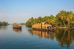 Binnenwateren van Kerala, India Stock Foto