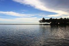 Binnenwateren van Poovar, Kerala India Stock Fotografie