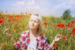 Binnenwereld van het kind Meditatie als manier van het leven stock fotografie