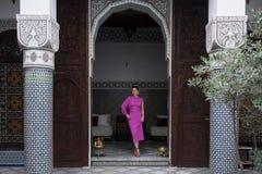 Binnenwerf Riad, Marokko stock foto's