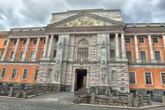 Binnenwerf van St Michael Castle (1801) in St. Petersburg, Rusland Royalty-vrije Stock Foto's