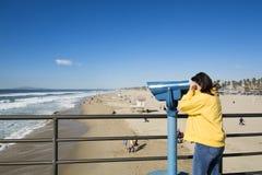 Binnoculars da praia fotografia de stock