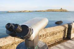 Binocolo dal mare Fotografia Stock Libera da Diritti