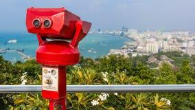 Binocolo a gettoni per fare un giro turistico Fotografie Stock Libere da Diritti